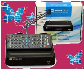 ТВ DVB-T2 комплект с приёмником